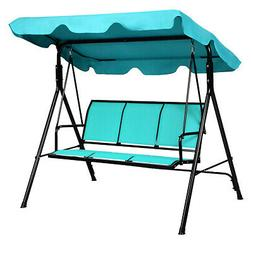 3 Person Patio Swing Outdoor Canopy Awning Yard Furniture Ha