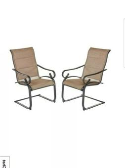 Crestridge Padded Sling Outdoor Lounge Chair in Putty