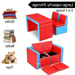 Kids Table & Sofa Chair Couch Set Toddler Seat Armchair Desk