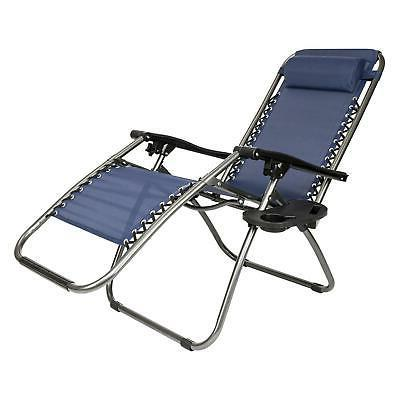 Set Gravity Chairs Lounge Patio Outdoor Beach Chair