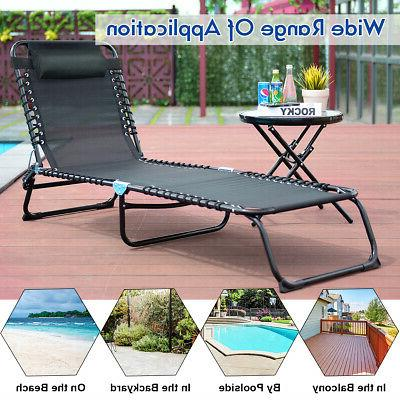 Outdoor Foldable Adjustable Cot Poolside