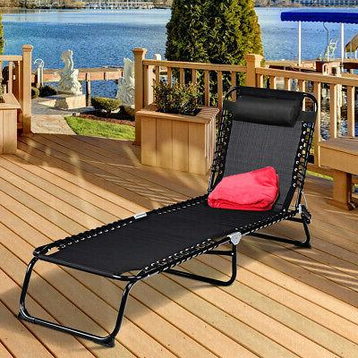 Outdoor Chaise Adjustable Patio Cot Poolside