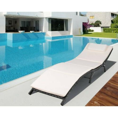 outdoor patio lounge chair furniture fold lawn