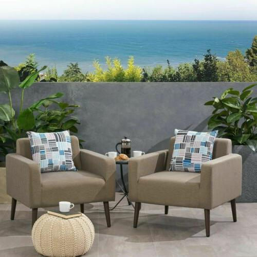 Patricia Outdoor Upholstered Club Chairs