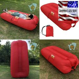 Lounge Chair Red Inflatable Outdoor Wind Inflated Sofa Bed B