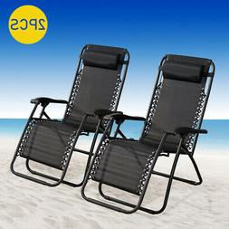 New Case Of 2 Zero Gravity Chairs Lounge Patio Chairs Outdoo