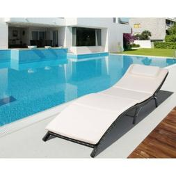 Outdoor Patio Lounge Chair furniture Fold Lawn chaise water