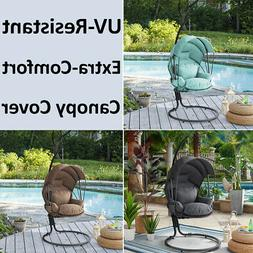 Outdoor Patio Lounge Hanging Swing Chair Stand w/ UV-Resista