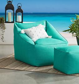 Patio Bean Bag Chair Outdoor Lounger Sofa Couch Soft Seat Po