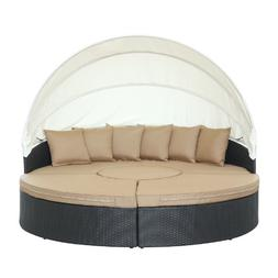 Quest Canopy 4 Piece Sectional Daybed Seating Group with Cus