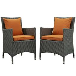 Modway Sojourn Patio Dining Chair in Canvas Tuscan