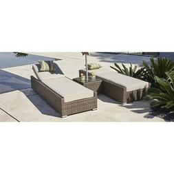 Stillwater 3-piece Outdoor Chaise Lounge Set Patio Chairs Br