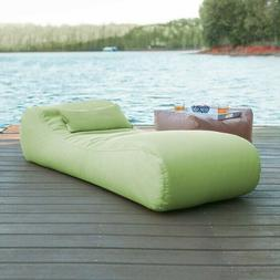 Weather-proof Outdoor Bean Bag Sun Chaise Lounge w/ Cushion